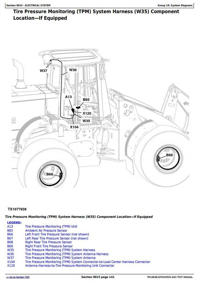 TM10698 - John Deere 824K 4WD Loader (SN.before 641969) Diagnostic, Operation & Test Service Manual - 1
