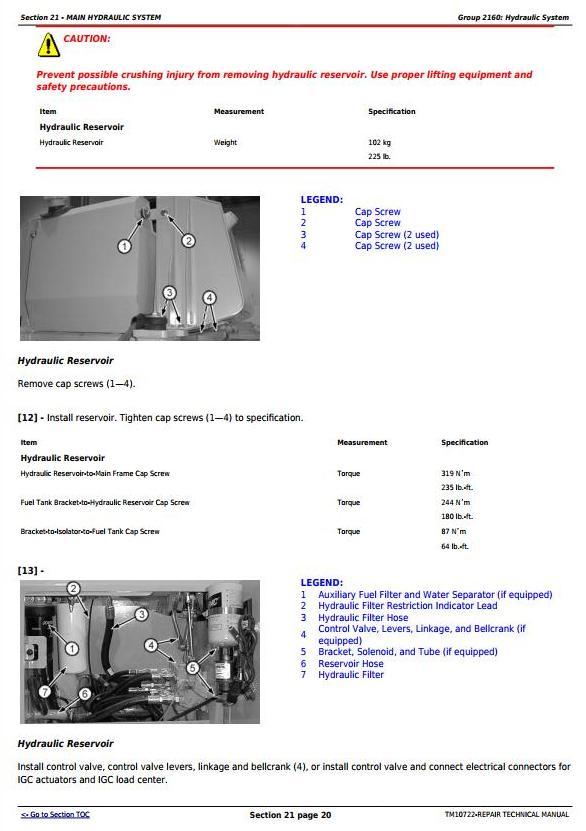 TM10722 - John Deere 450J, 550J, 650J (S.N.from 159987) Crawler Dozer Service Repair Technical Manual - 2