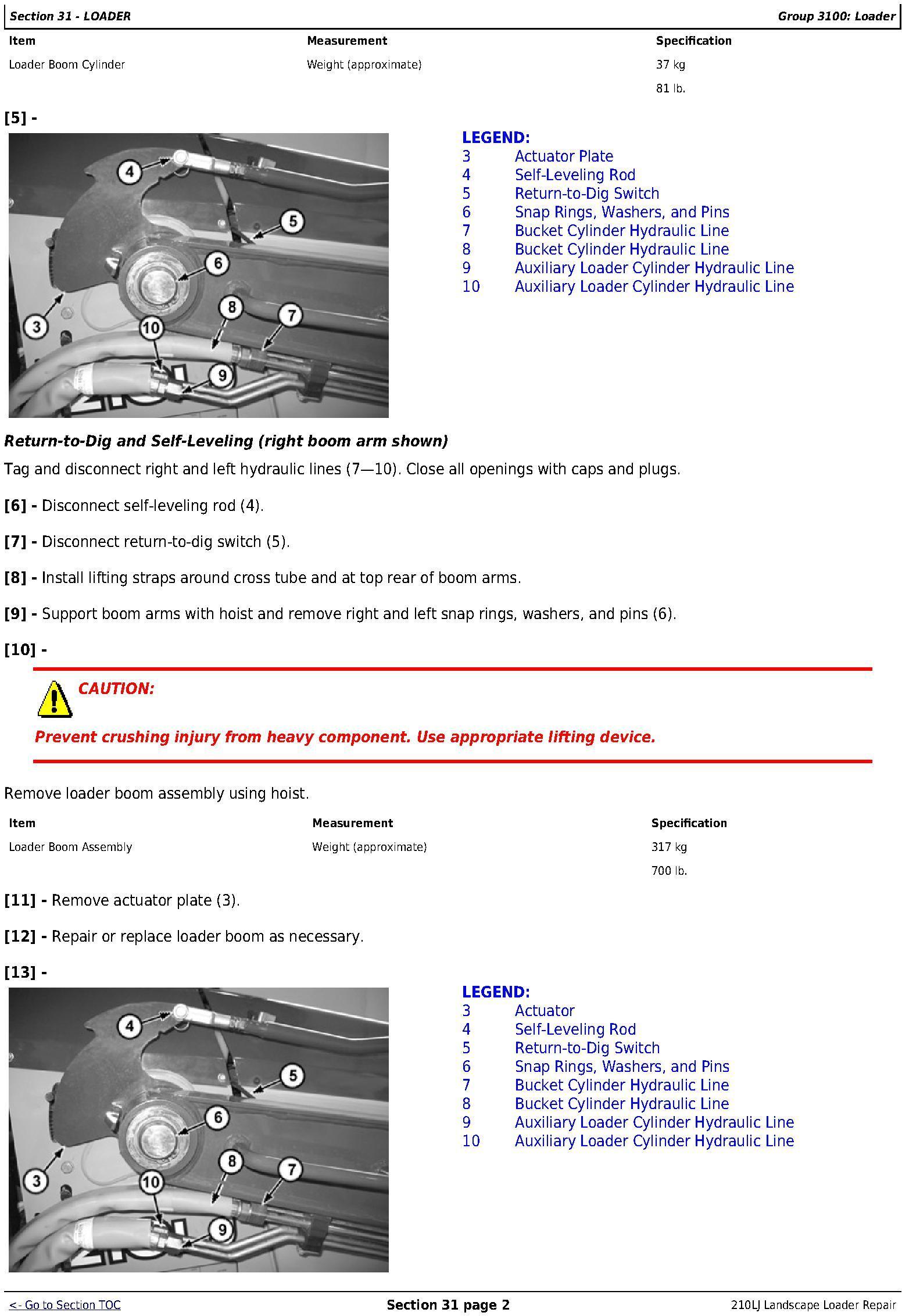 TM10731 - JD John Deere 210LJ Landscape Loader Repair Technical Manual - 3