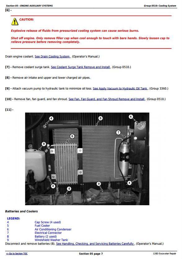 TM10737 - John Deere 120D Excavator Service Repair Manual - 1