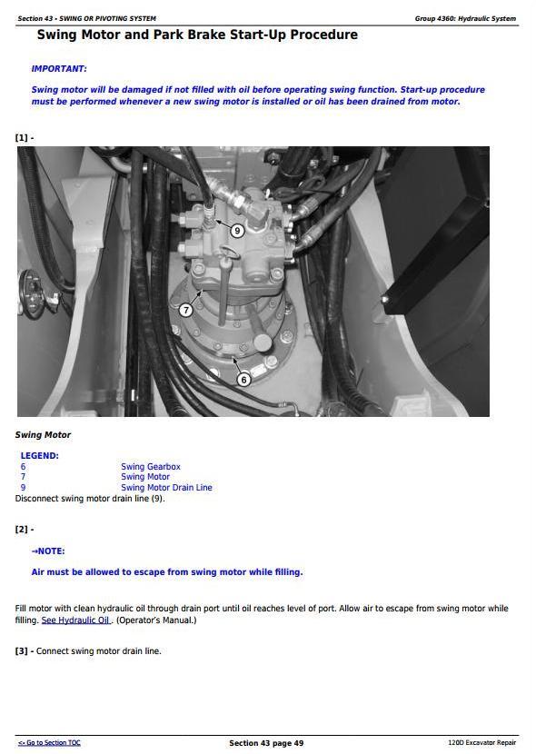 TM10737 - John Deere 120D Excavator Service Repair Manual - 3