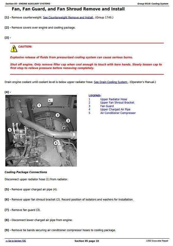 TM10743 - John Deere 135D RTS Excavator Service Repair Technical Manual - 1