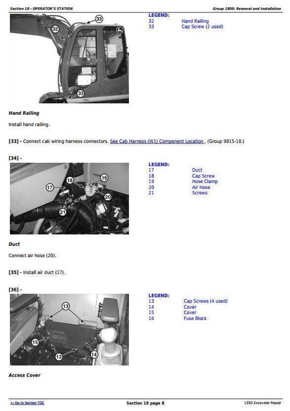 TM10743 - John Deere 135D RTS Excavator Service Repair Technical Manual - 2