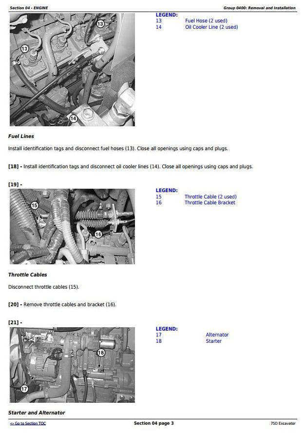 TM10749 - John Deere 75D Excavator Service Repair Technical Manual - 1