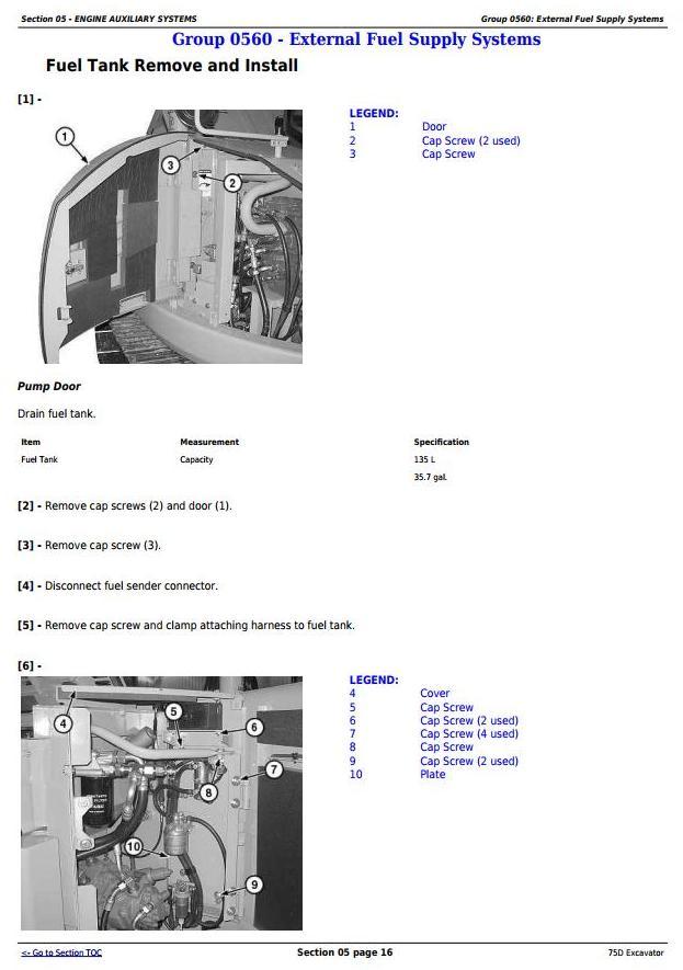 TM10749 - John Deere 75D Excavator Service Repair Technical Manual - 2
