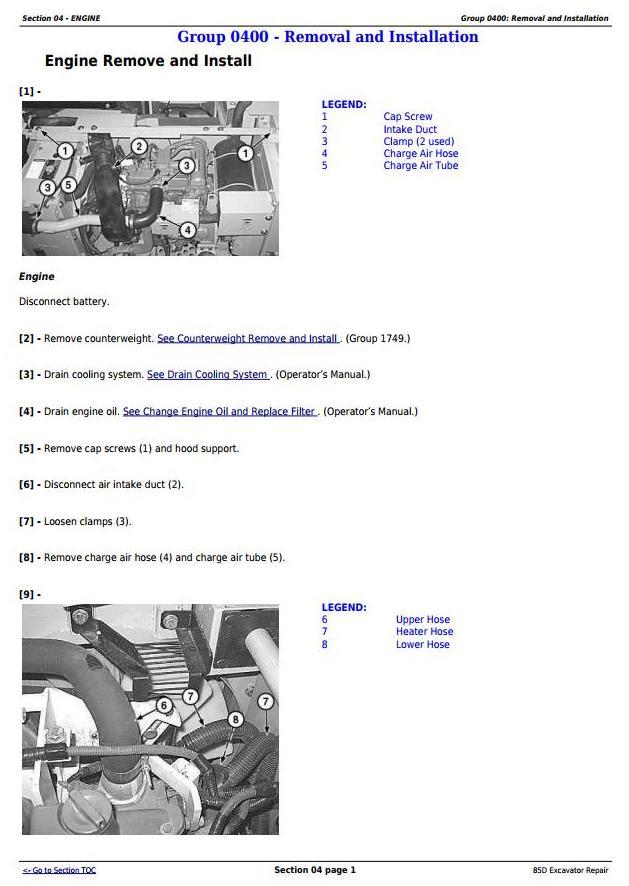 TM10755 - John Deere 85D Excavator Service Repair Technical Manual - 1