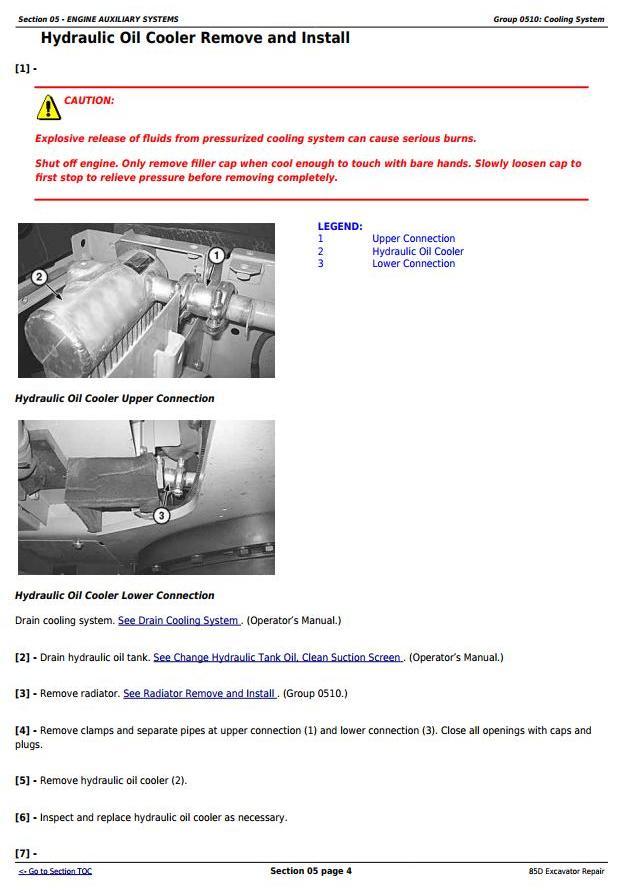 TM10755 - John Deere 85D Excavator Service Repair Technical Manual - 2