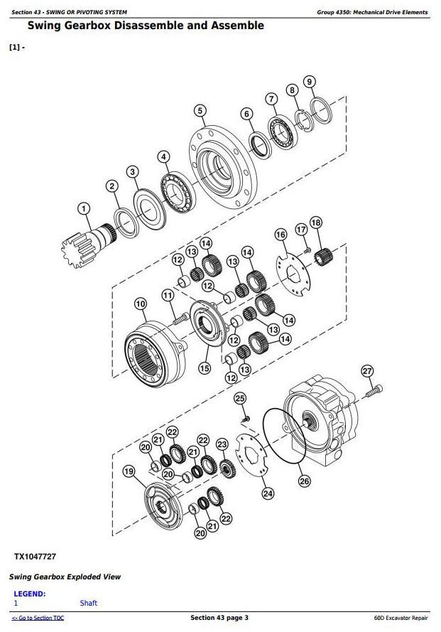 TM10761 - John Deere 60D Compact Excavator Service Repair Technical Manual - 1