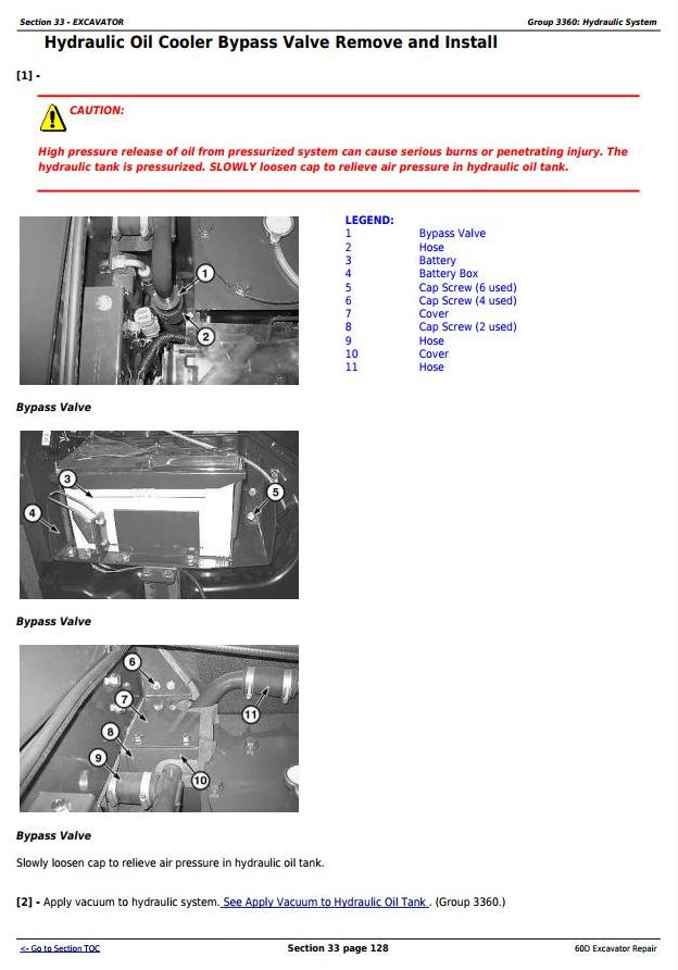 TM10761 - John Deere 60D Compact Excavator Service Repair Technical Manual - 2