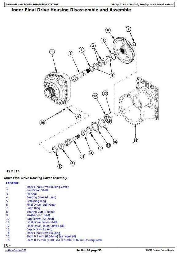 TM10780 - John Deere 850JR Crawler Dozer Service Repair Technical Manual - 1