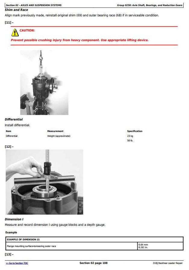 TM10847 - John Deere 310J Backhoe Loader (S.N. from 159760) Service Repair Technical Manual - 1