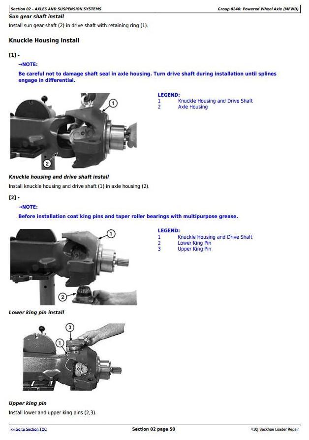 TM10851 - John Deere 410J Backhoe Loader (S.N.from 161617) Service Repair Technical Manual - 1