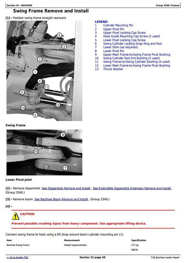 TM10875 - John Deere 710J Backhoe Loader (SN.159770-161143, 172185-) Service Repair Technical Manual - 3