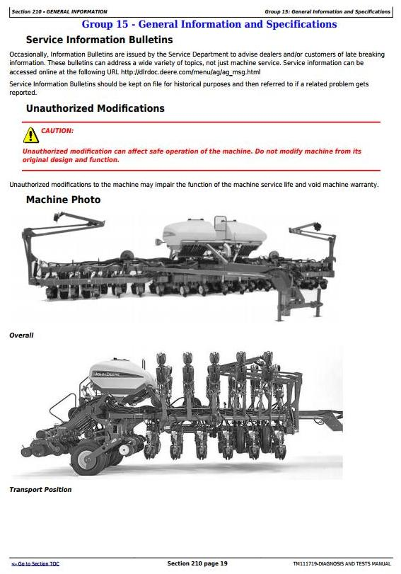 TM111719 - John Deere 1790 Planter Frames (SN.740101-745000) Diagnostic and Tests Service Manual - 3