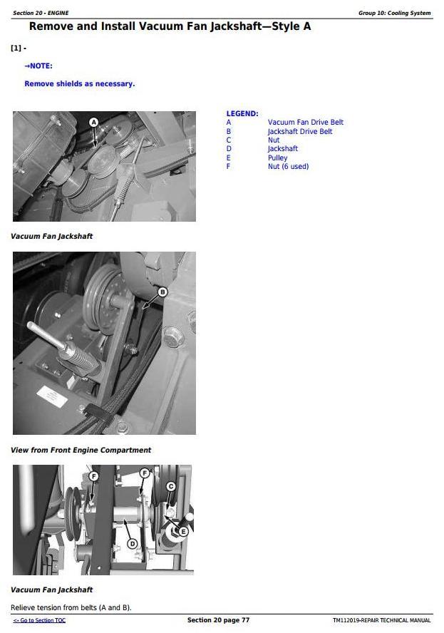 TM112019 - John Deere S550STS, S660STS, S670STS, S680STS, S685STS, S690STS Combines Repair Manual - 1