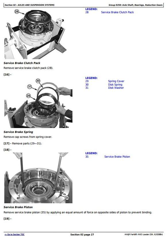 TM11203 - John Deere 444JR Forklift 4WD Loader (SN. 620388-) Service Repair Technical Manual - 3