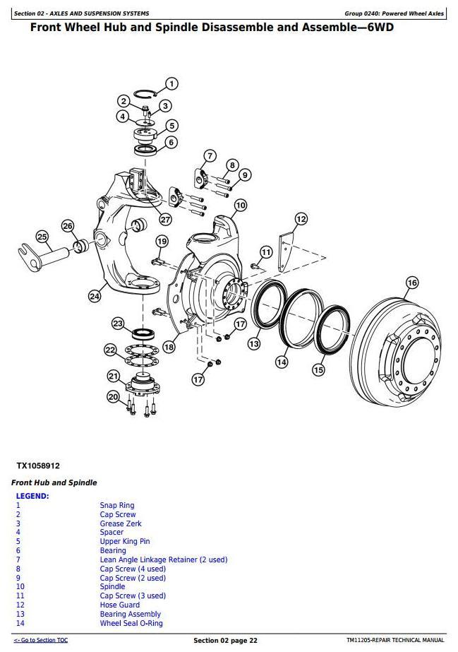 TM11205 - John Deere 670G, 670GP, 672G, 672GP (SN.-634753) Motor Grader Service Repair Technical Manual - 1