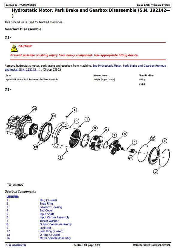 TM11399 - John Deere 318D, 319D, 320D, 323D Skid Steer Loader w.Manual Controls Service Repair Manual - 1