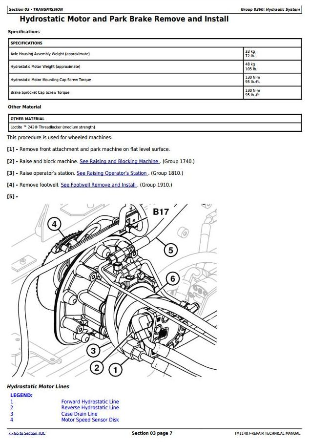 TM11407 - John Deere 318D, 319D, 320D, 323D Skid Steer Loader (EH Controls) Service Repair Manual - 1