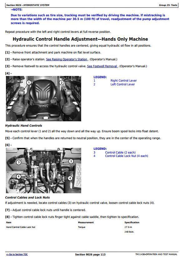 TM11430 - John Deere 326D, 328D, 332D Skid Steer Loader w.Manual Controls Diagnostic Service Manual - 2