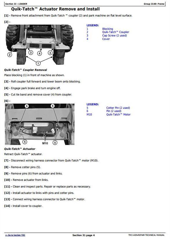 TM11439 - John Deere 326D, 328D, 329D, 332D, 333D Skid Steer Loader with EH Controls Repair Manual - 2