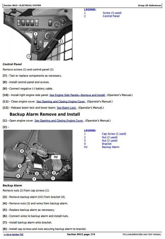 TM11446 - John Deere 329D, 333D Skid Steer Loader w.Manual Controls Diagnostic & Test Service Manual - 3
