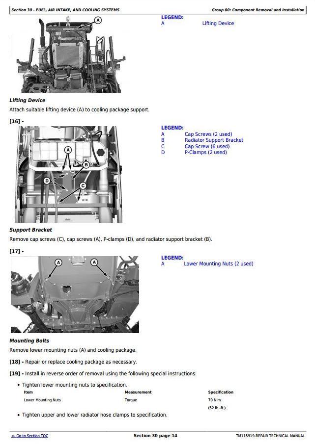 TM115919 - John Deere R4030 and R4038 Self-Propelled Sprayer Service Repair Technical Manual - 3
