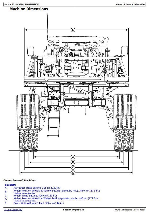 TM116119 - John Deere R4045 Self-Propelled Sprayers Service Repair Technical Manual - 1