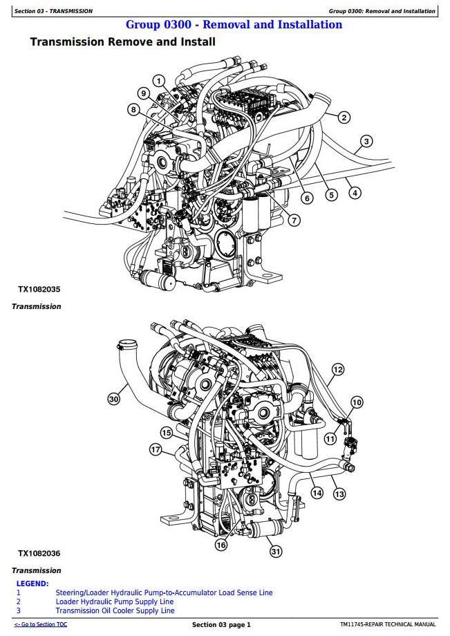 TM11745 - John Deere 744K 4WD Loader (SN. 632968—664100) w.T3/S2 Service Repair Technical Manual - 1