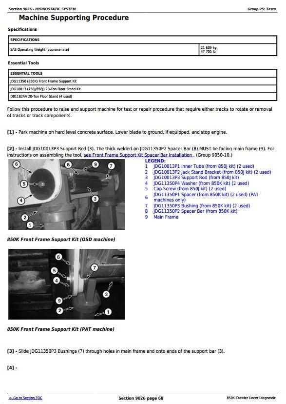 TM12043 - John Deere 850K Crawler Dozer (PIN: 1T0850KX__E178122-271265) Diagnostic, Test Service Manual - 3