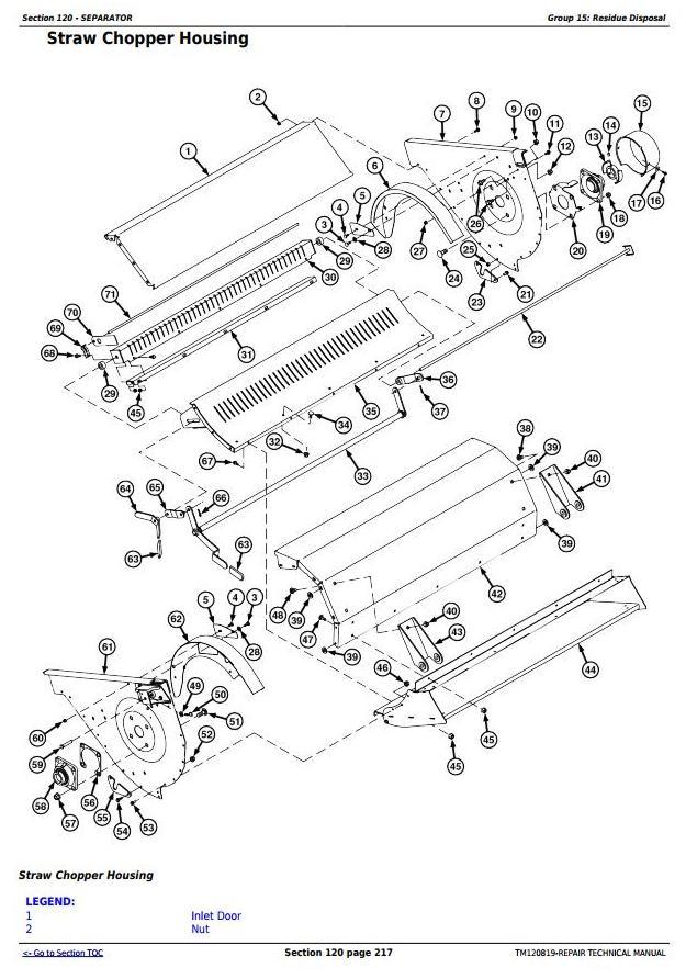 TM120819 - John Deere S650, S660, S670, S680, S685, S690 STS Combines Service Repair Technical Manual - 3