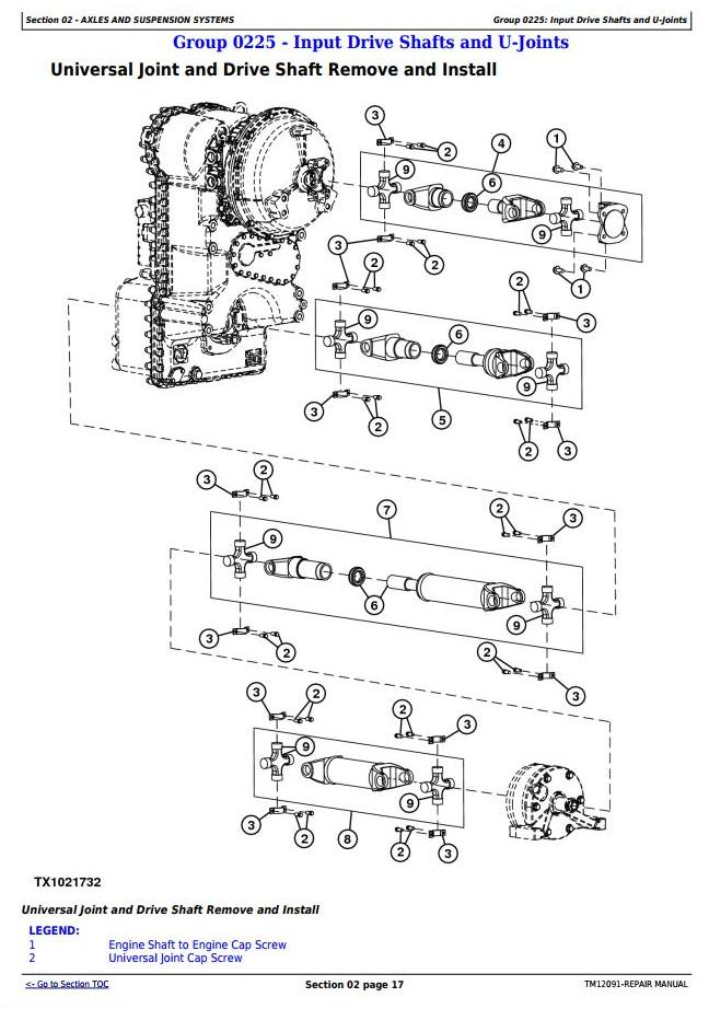 TM12091 - John Deere 444K 4WD Loader (SN.642101-670307) w.Engine 4045HDW56 (iT4) Service Repair Manual - 1