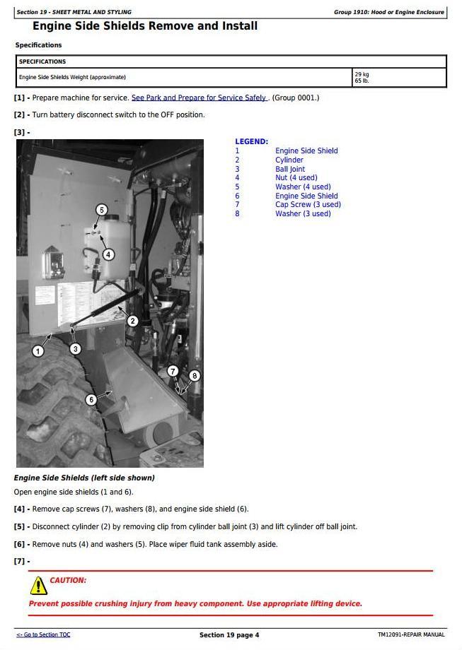 TM12091 - John Deere 444K 4WD Loader (SN.642101-670307) w.Engine 4045HDW56 (iT4) Service Repair Manual - 3