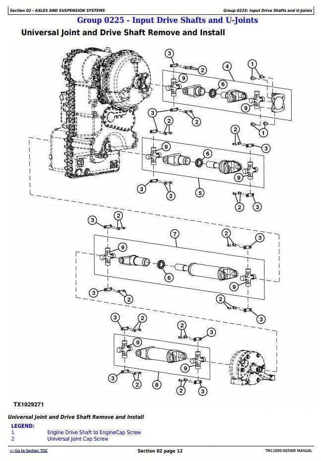 TM12095 - John Deere 4WD Loader 524K (SN.E642246-670307) w.Engine 6068HDW84 Service Repair Manual - 1
