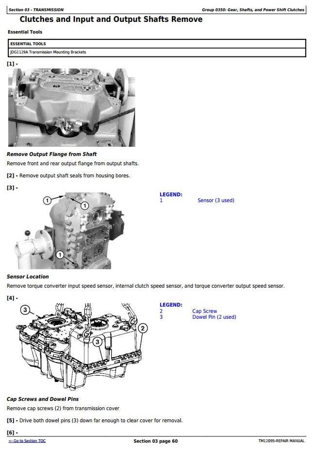 TM12095 - John Deere 4WD Loader 524K (SN.E642246-670307) w.Engine 6068HDW84 Service Repair Manual - 2