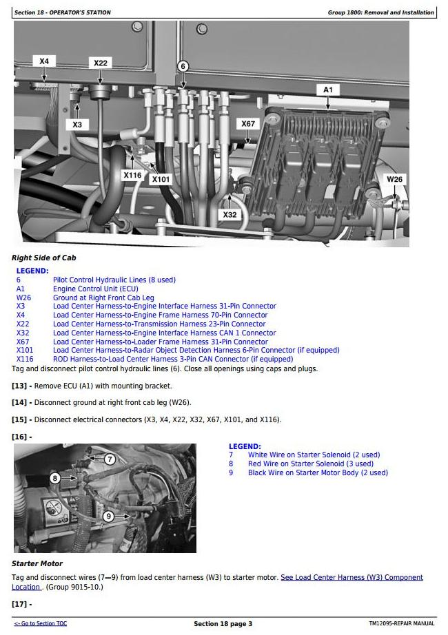 TM12095 - John Deere 4WD Loader 524K (SN.E642246-670307) w.Engine 6068HDW84 Service Repair Manual - 3