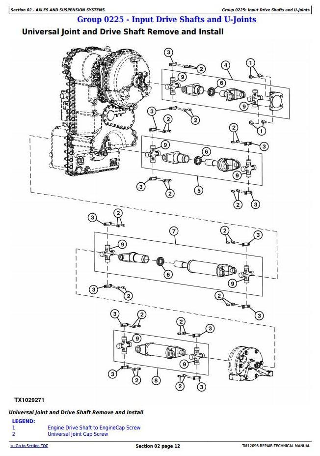 TM12096 - John Deere 524K 4WD Loader (SN.642246-670307) w.Engine 6068HDW74 (T3) Service Repair Manual - 1