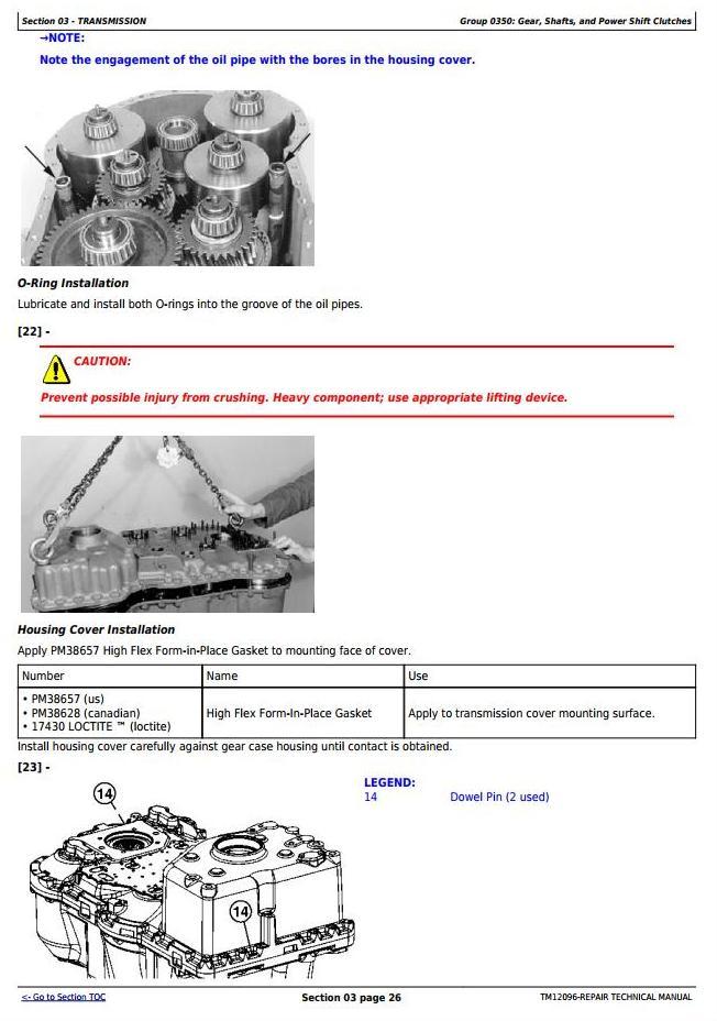 TM12096 - John Deere 524K 4WD Loader (SN.642246-670307) w.Engine 6068HDW74 (T3) Service Repair Manual - 2