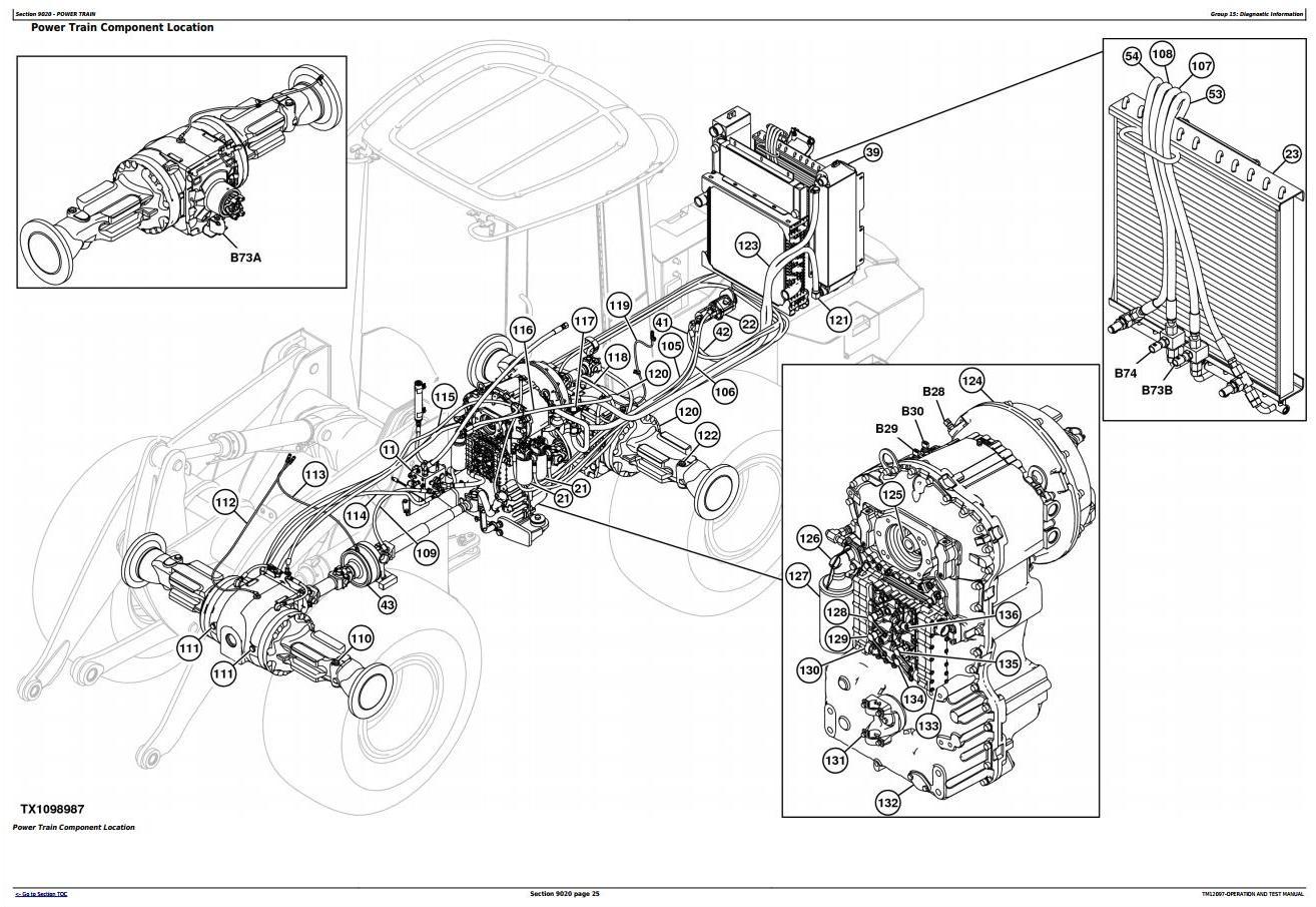 TM12097 - John Deere 544K 4WD Loader (SN.E642665-670307) w.Engine 6068HDW84 Diagnostic Service Manual - 1