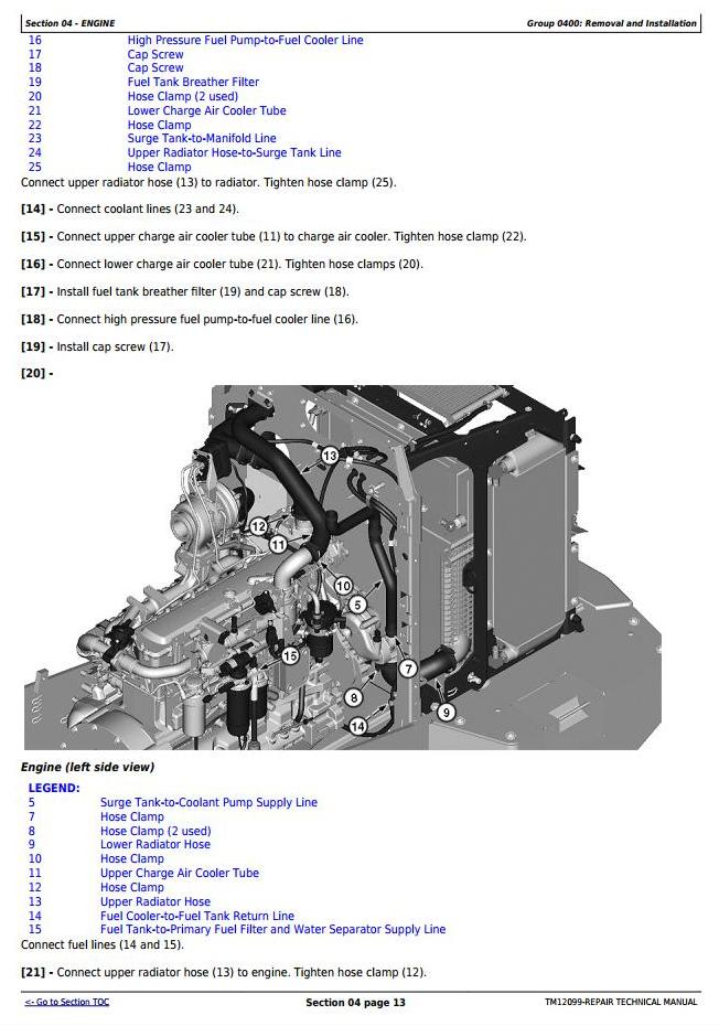 TM12099 - John Deere 544K 4WD Loader (SN.from E642665) w.Engine 6068HDW84 (iT4) Service Repair Manual - 3