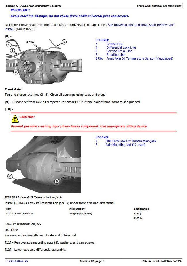 TM12100 - John Deere 544K 4WD Loader (SN.D642665-670307) w.Engine 6068HDW74 (T3) Service Repair Manual - 1