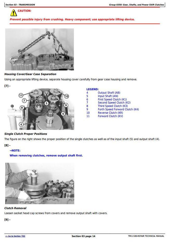 TM12100 - John Deere 544K 4WD Loader (SN.D642665-670307) w.Engine 6068HDW74 (T3) Service Repair Manual - 2