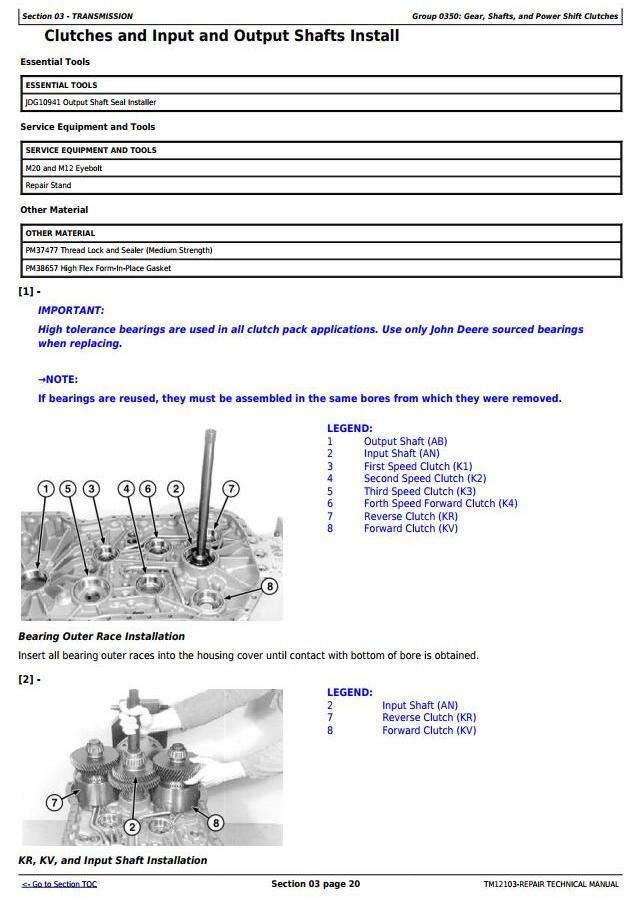TM12103 - John Deere 624K 4WD Loader (SN.E642635-658064) w.Engine 6068HDW78 Service Repair Manual - 1