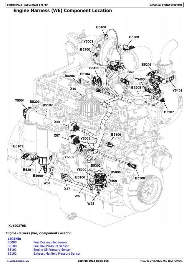 TM12105 - John Deere 644K 4WD Loader (SN.E634315-658064) w.Engine 6090HDW13 Diagnostic Service Manual - 1