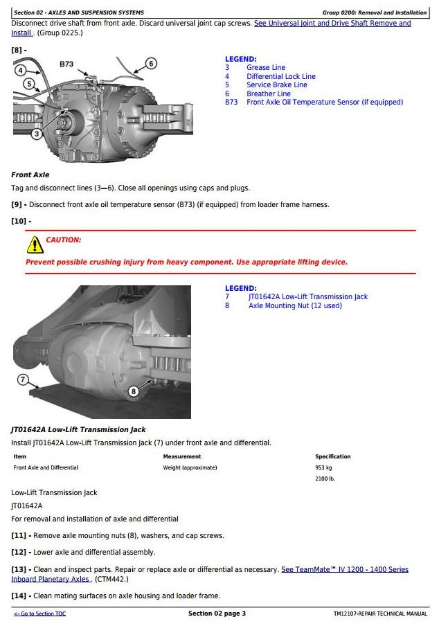 TM12107 - John Deere 644K 4WD Loader (SN.E634315-658064) w.Engine 6090HDW13 (iT4) Service Repair Manual - 1
