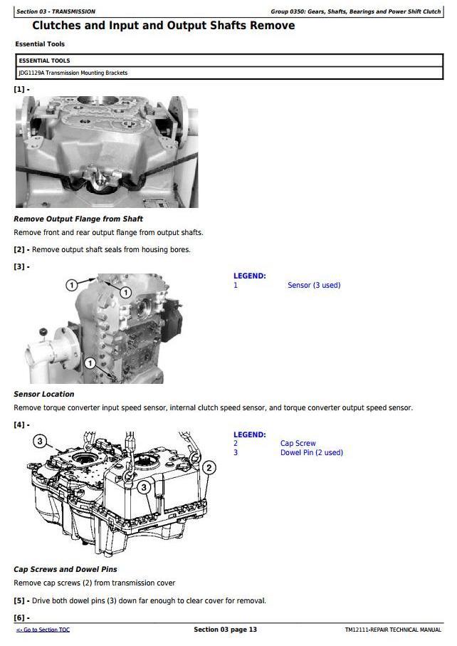TM12111 - John Deere 724K Loader (SN. E634315-658064) w.Engine 6090HDW13 Service Repair Tech. Manual - 1