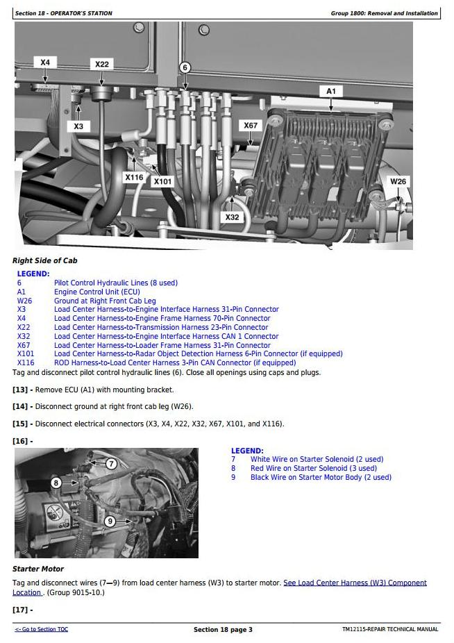 TM12115 - John Deere 824K 4WD Loader (SN.641970—664578) w.Engines 6135HDW02 Service Repair Manual - 3