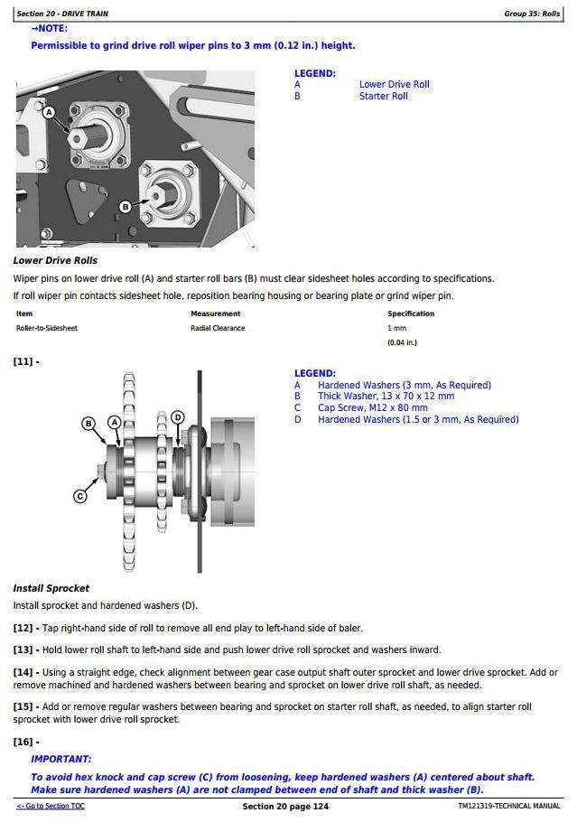 TM121319 - John Deere 469, 569 Premium Hay&Forage Round Balers All Inclusive Technical Service Manual - 1