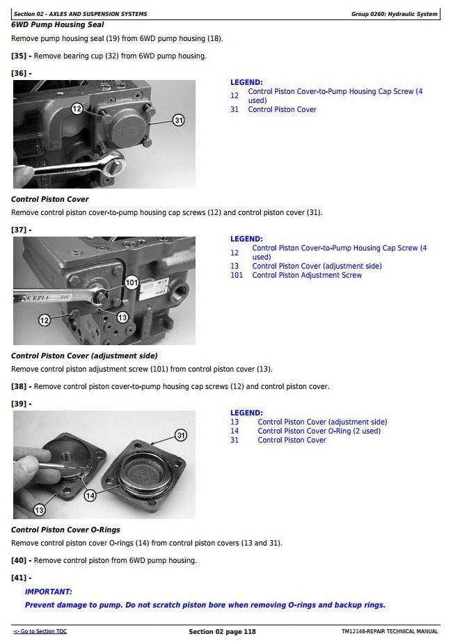 TM12146 - John Deere 870G, 870GP, 872G, 872GP (SN.634754-656507) Motor Grader Repair Technical Manual - 1