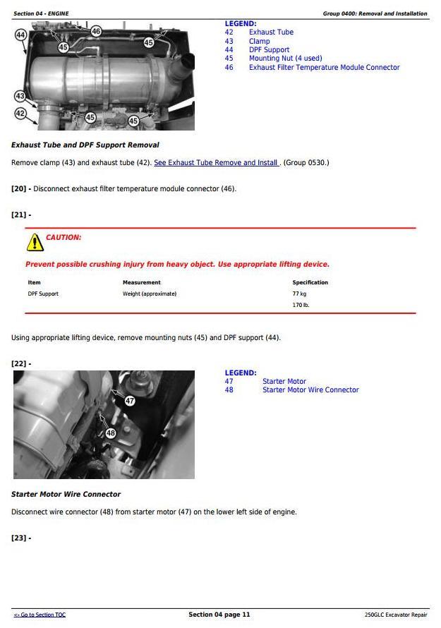 TM12177 - John Deere 250GLC Excavator Service Repair Technical Manual - 1